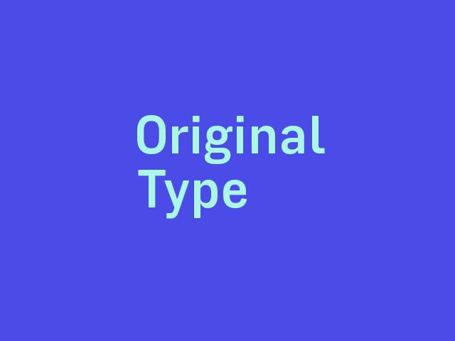Original Type logo