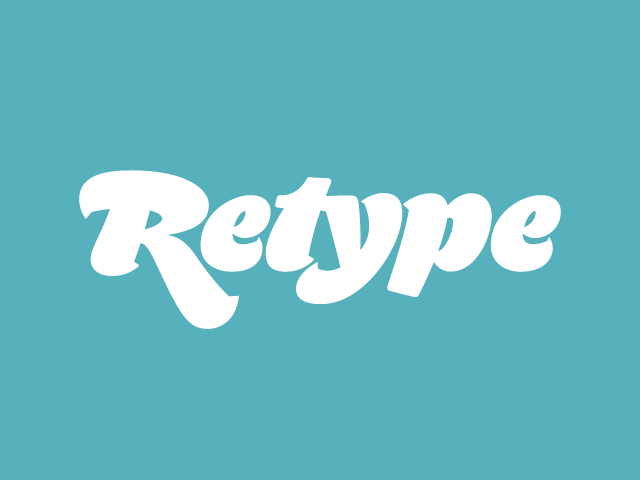 Retype Fontstand foundrybanner