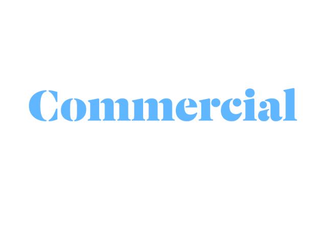 Commercial logo blue