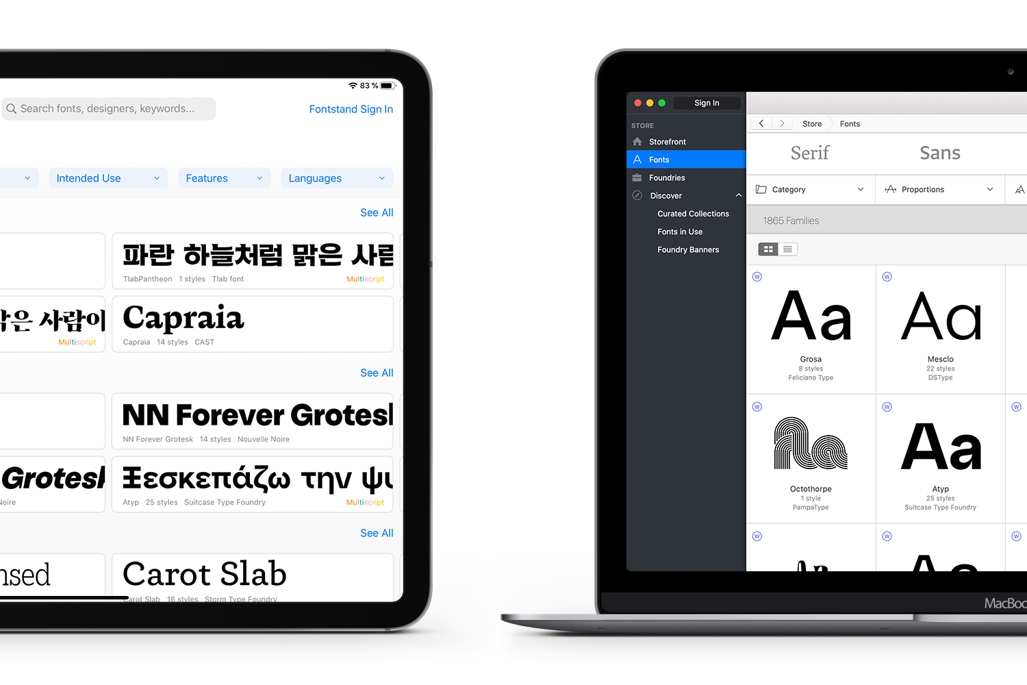 Fontstand Application